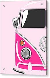 Camper Pink Acrylic Print by Michael Tompsett