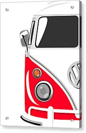 Camper Red Acrylic Print by Michael Tompsett