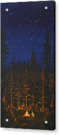 Camping In The Nothwest Acrylic Print by Jennifer Lynch