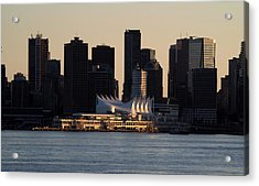 Canada Place From North Vancouver Acrylic Print by Darrell MacIver