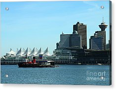 Canada Place Vancouver Acrylic Print by Christiane Schulze Art And Photography