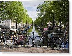 Canal Of Amsterdam Acrylic Print by Joshua Francia