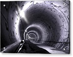 Cananda Line Tunnel Acrylic Print by Liz Towers