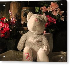 Cancer Bears Care Acrylic Print by Connie Levien