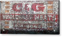 Candg Meats Acrylic Print by Jame Hayes