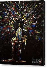 Candlestick Acrylic Print by Penny Barthrop