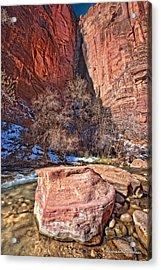 Canyon Corner Acrylic Print by Christopher Holmes