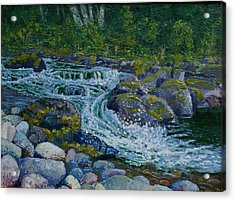 Canyon Creek Cadence Acrylic Print by Ron Smothers