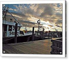 Cape Cod Harbor Acrylic Print by Joan  Minchak