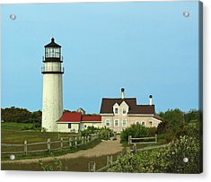 New England Acrylic Print featuring the photograph Cape Cod Highland Lighthouse by Juergen Roth