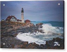 Cape Elizabeth Storm Acrylic Print by Darren White