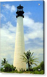 Cape Florida Lighthouse Acrylic Print by Frederic Kohli
