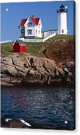 Cape Neddick Lighthouse York Maine Acrylic Print by George Oze