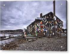 Cape Neddick Lobster Pound Acrylic Print by Eric Gendron