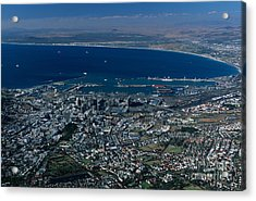 Capetown South Africa Aerial Acrylic Print by Sandra Bronstein