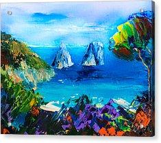 Capri Colors Acrylic Print by Elise Palmigiani