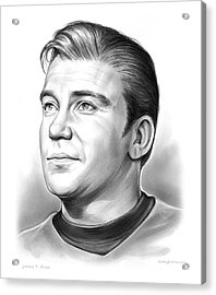 Capt. James T. Kirk Acrylic Print by Greg Joens