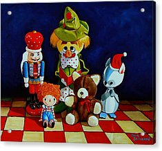 Captain Candycorns Dollhouse Choir Acrylic Print by Doug Strickland