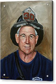 Captain E.j. Acrylic Print by Paul Walsh