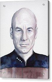 Captain Picard Acrylic Print by Olga Shvartsur