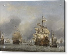 Capture Of The Royal Prince Acrylic Print by Willem Van De Velde The Younger
