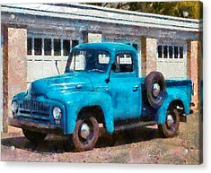 Car - Truck - An International Old Truck Acrylic Print by Mike Savad