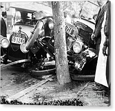 Car Accident, C1919 Acrylic Print by Granger