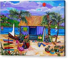 Cara's Island Time Acrylic Print by Patti Schermerhorn