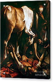 Caravaggio: St. Paul Acrylic Print by Granger