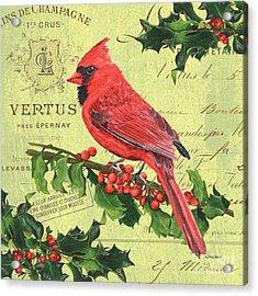 Cardinal Peace Acrylic Print by Debbie DeWitt