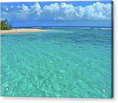 Caribbean Water Acrylic Print by Scott Mahon