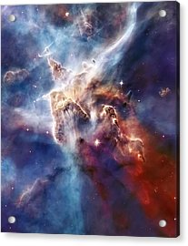 Carina Nebula Pillar Acrylic Print by The  Vault - Jennifer Rondinelli Reilly