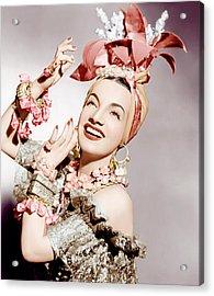 Carmen Miranda, Ca. Early 1940s Acrylic Print by Everett