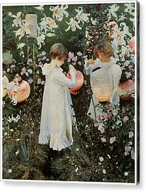 Carnation Lily Lily Rose Acrylic Print by John Singer Sargent