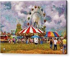 Carnival - Look At All The Excitement Acrylic Print by Mike Savad