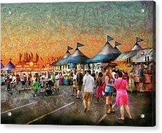 Carnival - Who Wants Gyros Acrylic Print by Mike Savad
