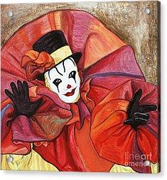 Carnival Clown Acrylic Print by Patty Vicknair
