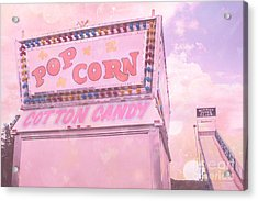 Carnival Festival Popcorn Cotton Candy Slide Fun Acrylic Print by Kathy Fornal