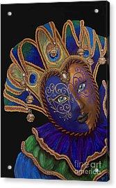Carnival Peacock Jester Acrylic Print by Patty Vicknair