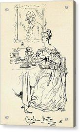 Caroline Elizabeth Sarah Norton, 1808 Acrylic Print by Vintage Design Pics