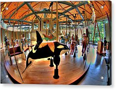 Carousel 2 At The Butchart Gardens Acrylic Print by Lawrence Christopher