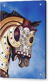 Carousel Horse Acrylic Print by Tom Mc Nemar
