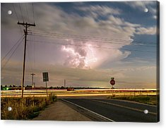 Cars Lightning And Lines Acrylic Print by James BO Insogna