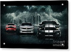 Cars Acrylic Print by Archangelus Gallery