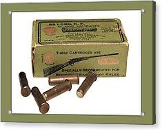 Cartridges For Rifle Acrylic Print by Susan Leggett