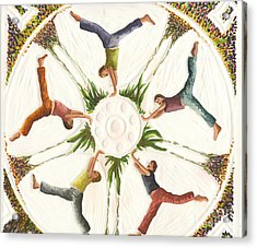 Cartwheels Turn To Carwheels Acrylic Print by Kayla Race