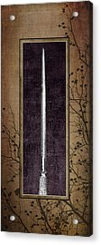 Carving Set Sharpener Triptych 3 Acrylic Print by Tom Mc Nemar