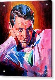 Cary Grant - Debonair Acrylic Print by David Lloyd Glover