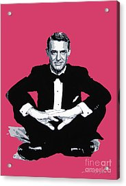 Cary Grant Acrylic Print by David Lloyd Glover