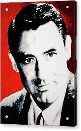 Cary Grant Acrylic Print by Luis Ludzska